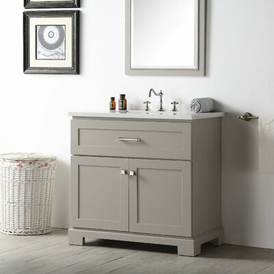 36 Single Vanity Set Base Finish: Warm Gray