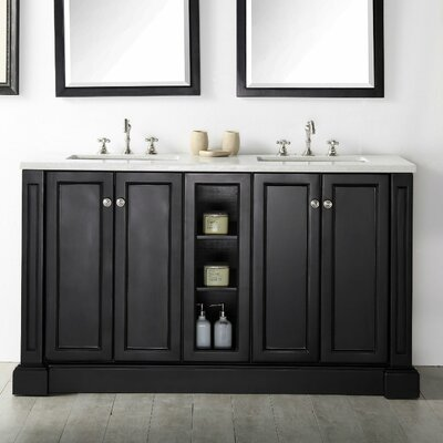 60 Double Vanity Set Base Finish: Espresso