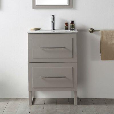 24 Single Vanity Set Base Finish: Warm Gray