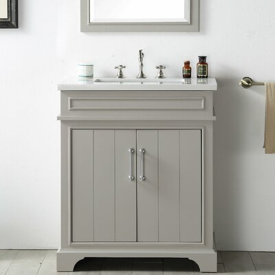 30 Single Vanity Set Base Finish: Warm Gray
