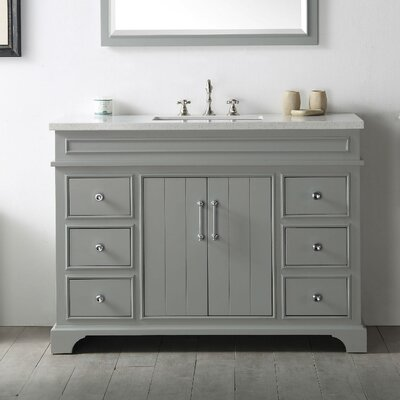 48 Single Vanity Set Base Finish: Cool Gray