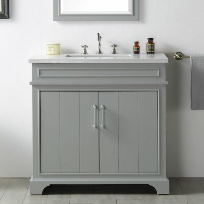 36 Single Vanity Set Base Finish: Cool Gray