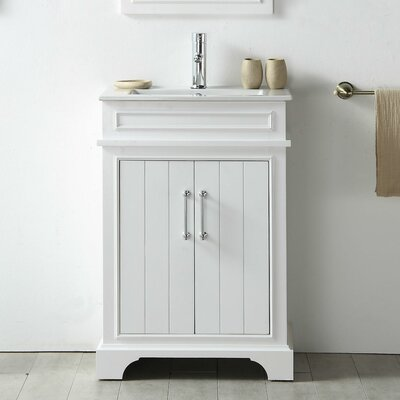 24 Single Vanity Set Base Finish: White