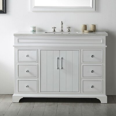48 Single Vanity Set Base Finish: White