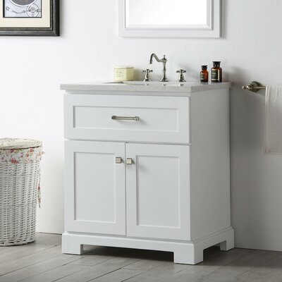 30 Single Vanity Set Base Finish: White