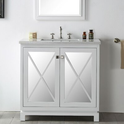36 Single Vanity Set Base Finish: White