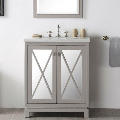 30 Single Vanity Set Base Finish: Warm Gray