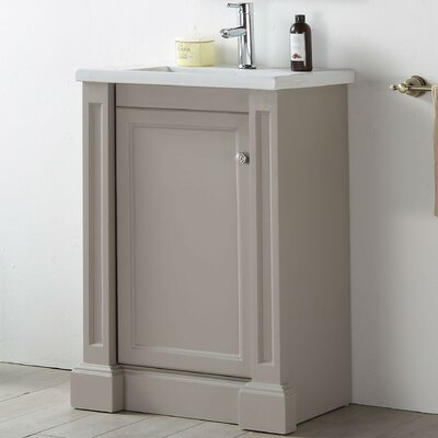 24 Single Vanity Setmateria Base Finish: Warm Gray