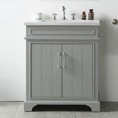 30 Single Vanity Set Base Finish: Cool Gray