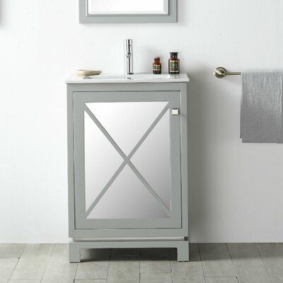 24 Single Vanity Set Base Finish: Cool Gray