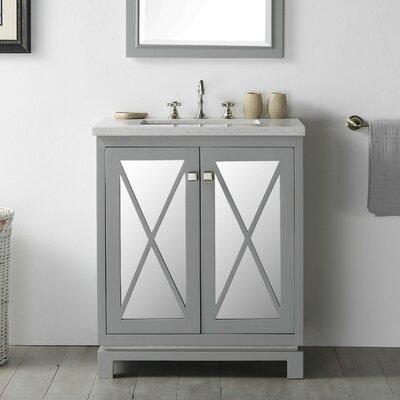 30 Single Vanity Set Base Finish: Cool Gray