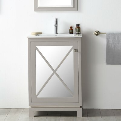 24 Single Vanity Set Base Finish: Warm Gray