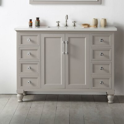 48 Single Vanity Set Base Finish: Warm Gray