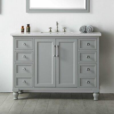 48 Single Vanity Set Base Finish: Cool Gray