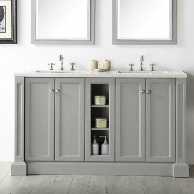 Taunya 60 Double Vanity Set Base Finish: Cool Gray