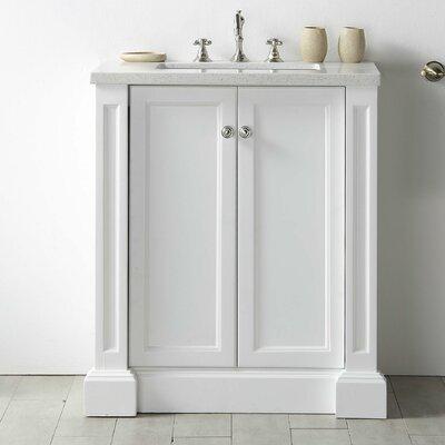 30 Single Vanity Set Base Finish: White