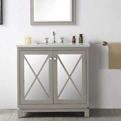 36 Single Vanity Set Base Finish: Warm Gray