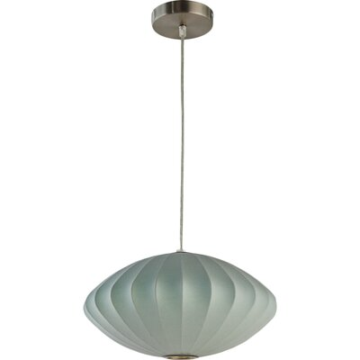 1-Light Globe Pendant Shade Color: Blue
