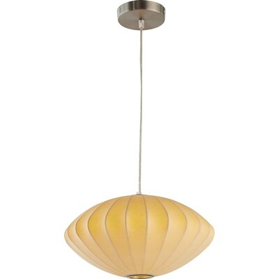 1-Light Globe Pendant Shade Color: Yellow