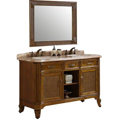 64 Double Bathroom Vanity Set