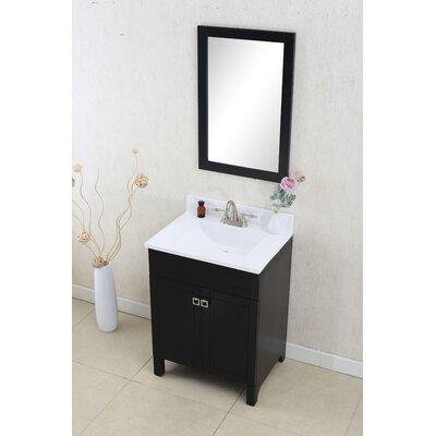 Applebaum 24 Single Bathroom Vanity Set Color: Espresso