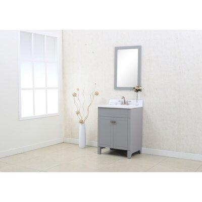 Applebaum 24 Single Bathroom Vanity Set Color: Gray