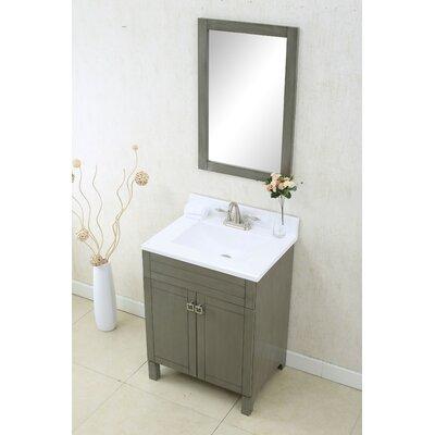 Applebaum 24 Single Bathroom Vanity Set Color: Silver Gray