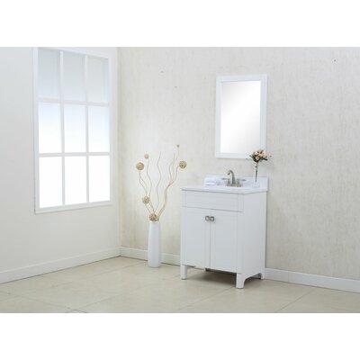 Applebaum 24 Single Bathroom Vanity Set Color: White
