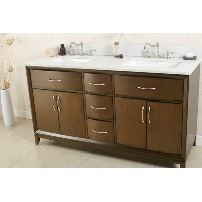 60 Double Bathroom Vanity Set