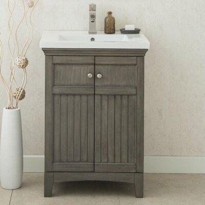 Perrone 24 Single Bathroom Vanity Set Finish: Silver Gray