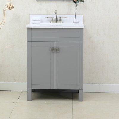 24 Single Bathroom Vanity Set Color: Gray