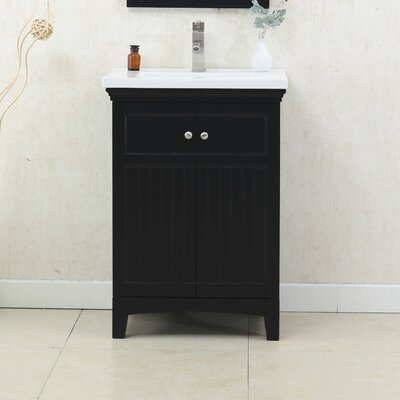 Perrone 24 Single Bathroom Vanity Set Finish: Espresso