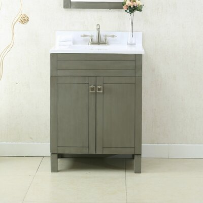 24 Single Bathroom Vanity Set Color: Silver Gray
