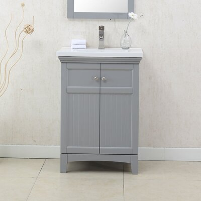 Perrone 24 Single Bathroom Vanity Set Finish: Gray