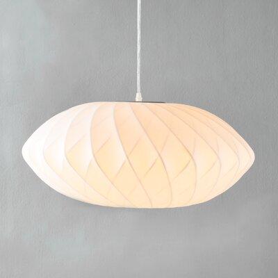 1-Light Oval Pendant Size: 10 H x 22 W x 22 D