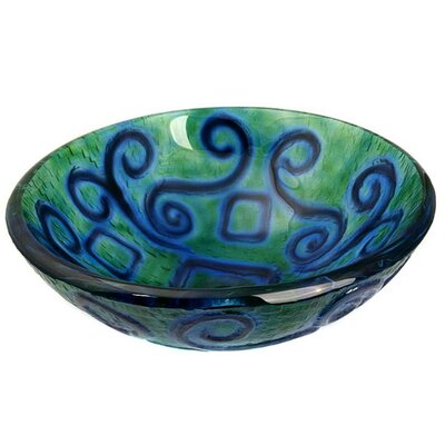 Mosaic Earth Glass Circular Vessel Bathroom Sink