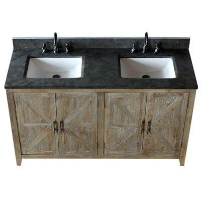 Alamo 60 Double Bathroom Vanity Set with Mirror