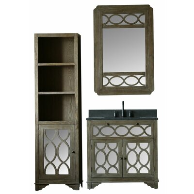 Clarkston 36 Moon Stone Single Bathroom Vanity Set with Mirror