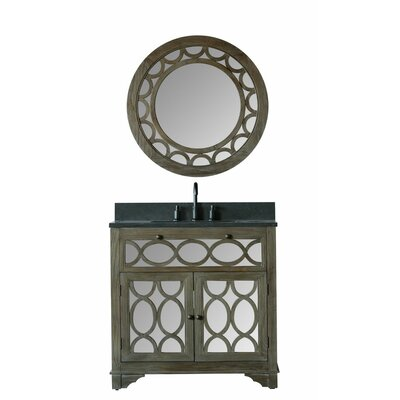 Clarkston 36 Moon Stone Single Bathroom Vanity Set with Mirror