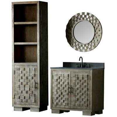 Claris 36 Single Bathroom Vanity Set with Mirror