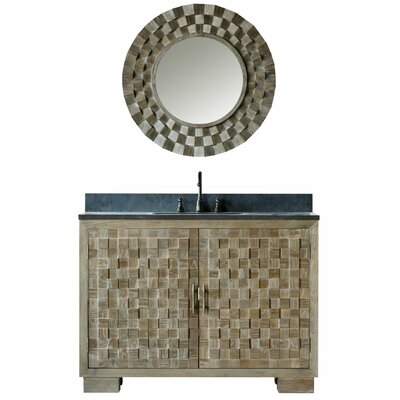 Claris 48 Single Bathroom Vanity Set with Mirror