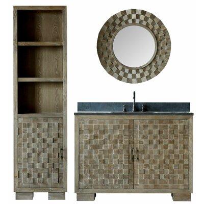 Claris 48 Single Bathroom Vanity Set with Mirror