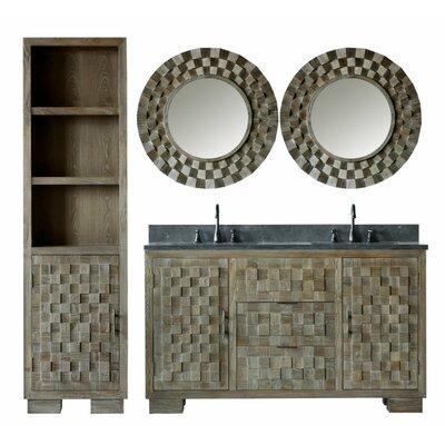 Claris 60 Double Bathroom Vanity Set with Mirror