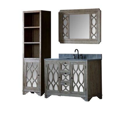 Quintana Solid Elm 48 Single Bathroom Vanity Set with Mirror