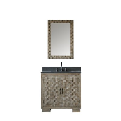 Benicia Solid Elm 36 Single Bathroom Vanity And Mirror