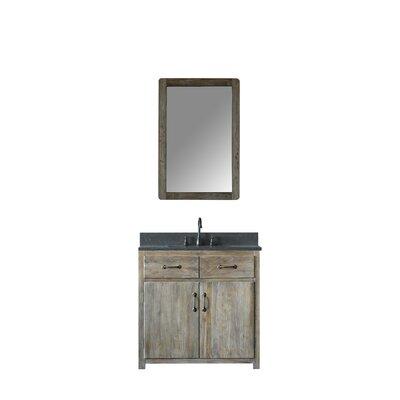 Warm Springs Solid Elm 36 Single Bathroom Vanity Set with Mirror
