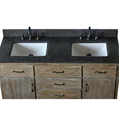 Warm Springs Solid Elm 60 Double Bathroom Vanity Set with Mirror