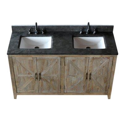 Zuleika Solid Elm 60 Bathroom Vanity Set with Mirror