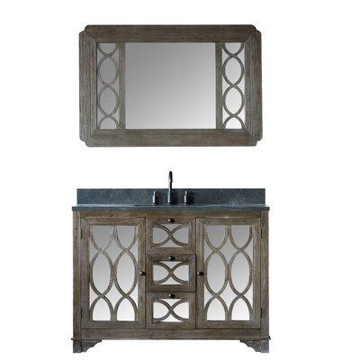 Bonaventure Solid Elm 48 Single Bathroom Vanity Set with Mirror