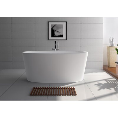 62 x 27.5 Freestanding Soaking Bathtub